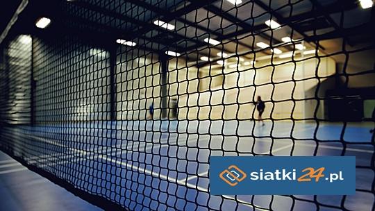 Bezpieczeństwo na kortach tenisowych - zabezpieczenie siatką PP