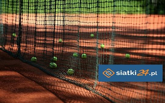 Zabezpieczenie kortów tenisowych siatką polipropylenową