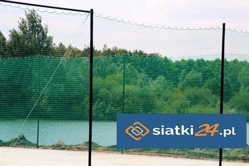 Ogrodzenie boisk sportowych bezwęzłową siatką polipropylenową