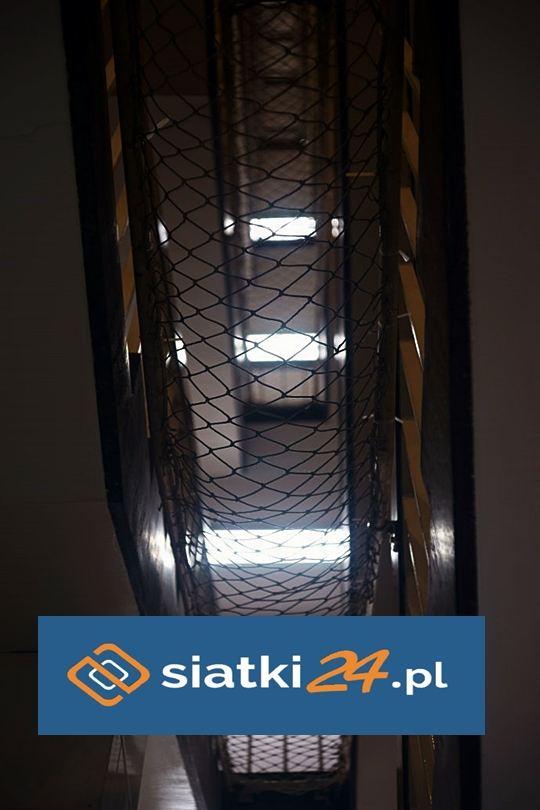 Wytzymałe siatki na schody bezwęzłowe polipropylenowe