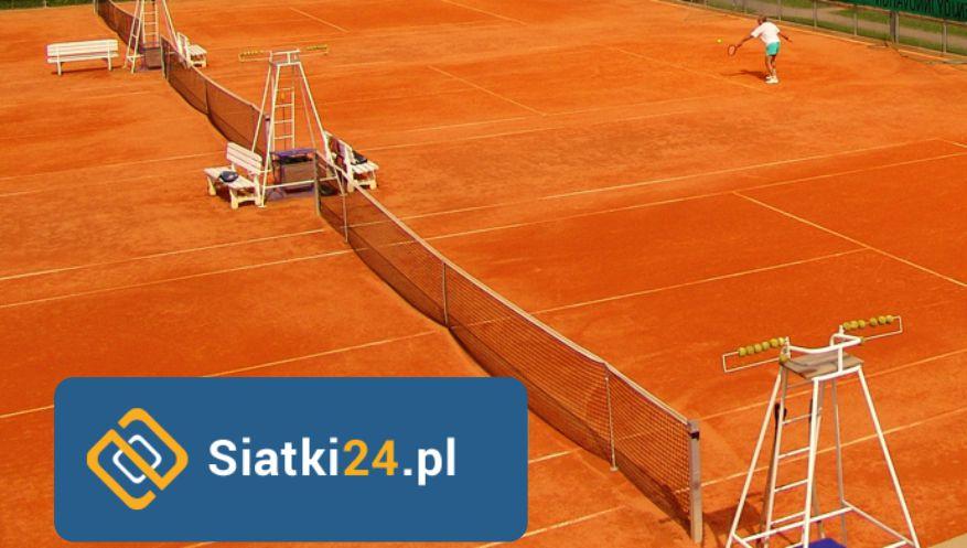 Siatka na ogrodzenie kortu tenisowego wykonana z polipropyenu. Siatka na korty tenisowe.