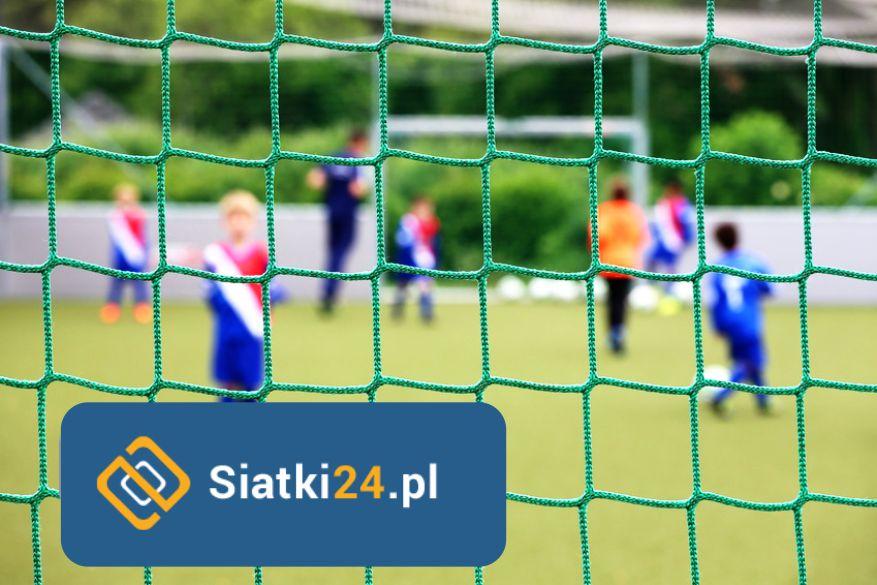 Siatka sportowa przeznaczona do ochrony obiektów sportowych. Siatka sportowa