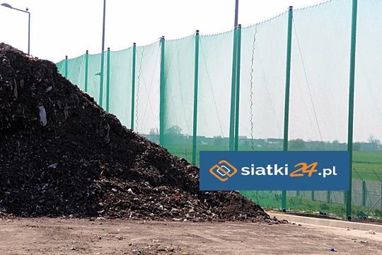 Siatka PP stosowana do ogrodzenia wysypiska śmieci